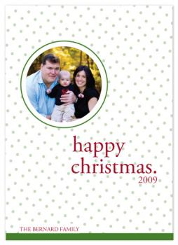 Happy Dots Holiday Photo Cards