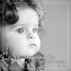 BlackWhiteSwirls Holiday Photo Cards