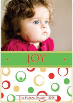 Dots & Stars Holiday Photo Cards