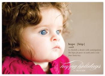 hope Holiday Photo Cards