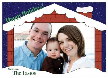 Snowy Holiday Holiday Photo Cards
