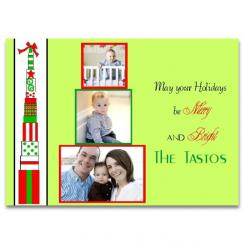 Tall presents Holiday Photo Cards
