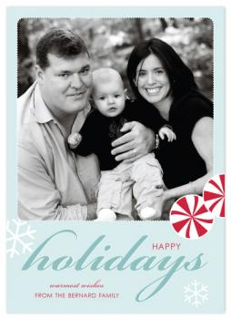 A Peppermint Holiday Holiday Photo Cards