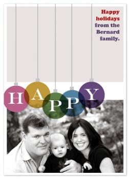 Colorful Happiness Holiday Photo Cards
