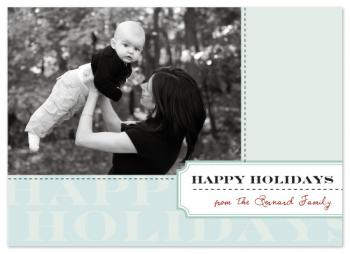 Blue Joy Holiday Photo Cards