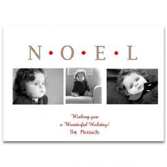 Plaid Noel Holiday Photo Cards