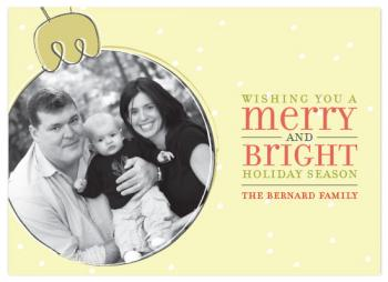 Bright Ornament Holiday Photo Cards