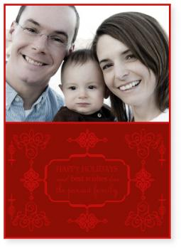 filigree Holiday Photo Cards