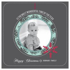 WONDERFUL TIME Holiday Photo Cards