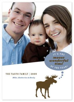 Moose Wonderful Time Holiday Photo Cards