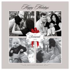 Classic 4-way Holiday Photo Cards