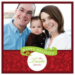 Classic Vintage  Holiday Photo Cards