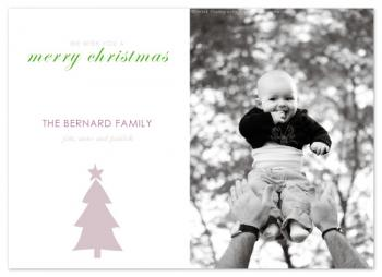 A single tree Holiday Photo Cards