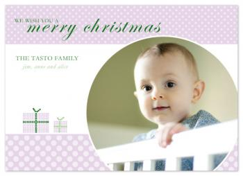 Christmas circles Holiday Photo Cards