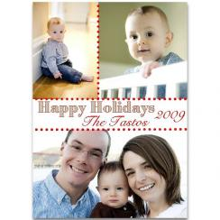 polka dot  Holiday Photo Cards