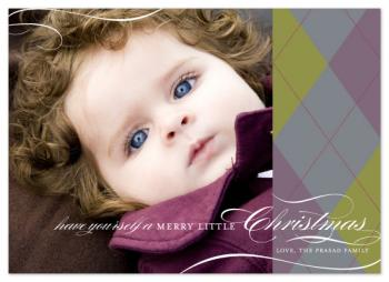 holiday argyle Holiday Photo Cards