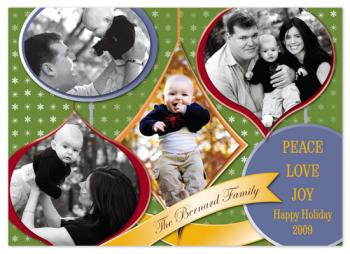 Ornaments Cutout Holiday Photo Cards