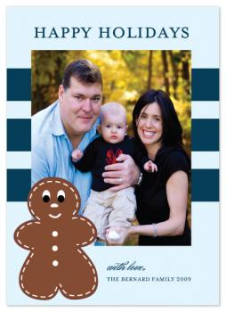 The Gingerbread Man Holiday Photo Cards