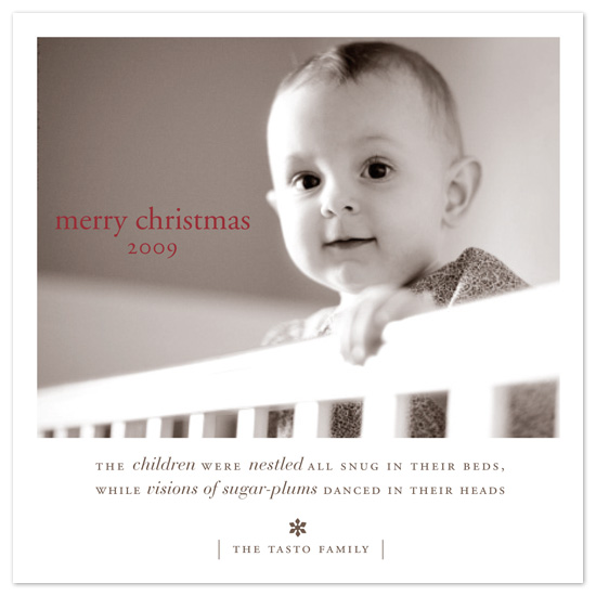 holiday photo cards - polaroid by pottsdesign