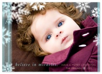 believe in miracles Holiday Photo Cards