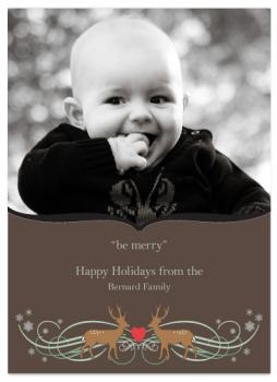 """""""be merry"""" Holiday Photo Cards"""