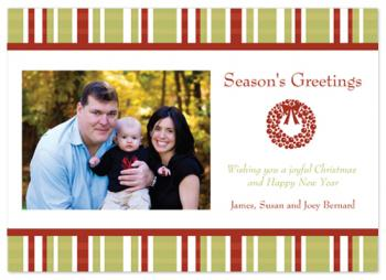 Festive Plaid Holiday Photo Cards