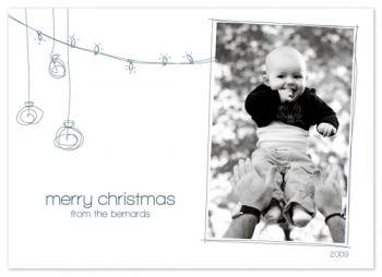whimsical ornaments Holiday Photo Cards