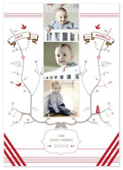 Family Tree Holiday Photo Cards