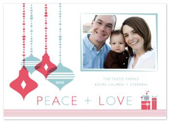 peace + love Holiday Photo Cards