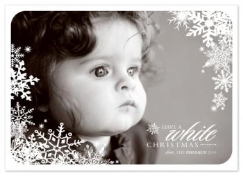 a white christmas Holiday Photo Cards