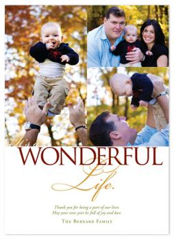 It's A Wonderful Life Collage Holiday Photo Cards