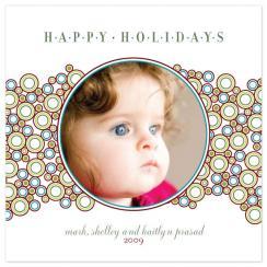Holiday Circles Holiday Photo Cards