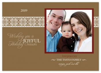 hot cocoa lace Holiday Photo Cards