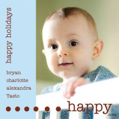 Happy Holidays Dots Holiday Photo Cards
