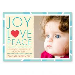 Joy, Love, Peace Holiday Photo Cards