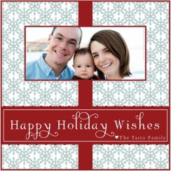 Snowflake Cheer Holiday Photo Cards