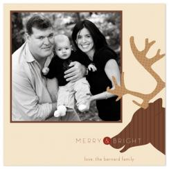 the red-nosed reindeer Holiday Photo Cards