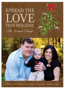 Mistletoe Holiday Photo Cards