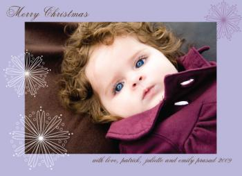 Merry snowflake Holiday Photo Cards