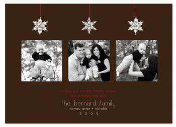 snowdrops Holiday Photo Cards