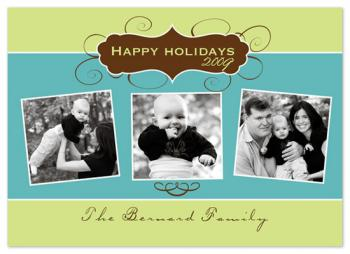 Swirly modern Holiday Photo Cards