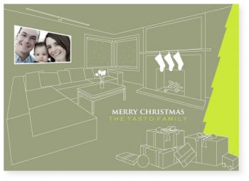 modern home Holiday Photo Cards