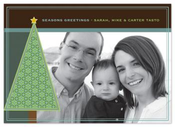 Modern Tree Holiday Photo Cards