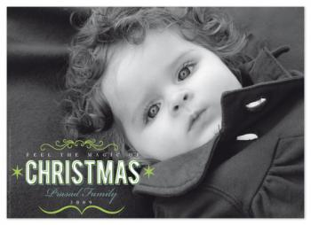 Magic of christmas Holiday Photo Cards
