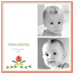 Christmas tulip Holiday Photo Cards