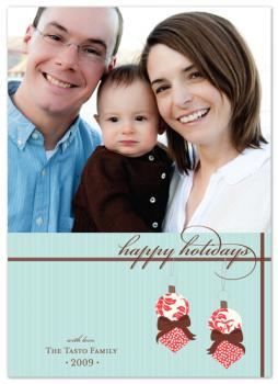 pretty ornaments Holiday Photo Cards