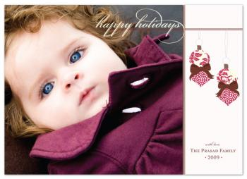 elegant ornaments Holiday Photo Cards