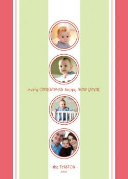 Simply Stripes Holiday Photo Cards