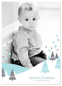 White Christmas Dream Holiday Photo Cards