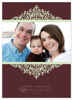 Scroll Frame Holiday Photo Cards
